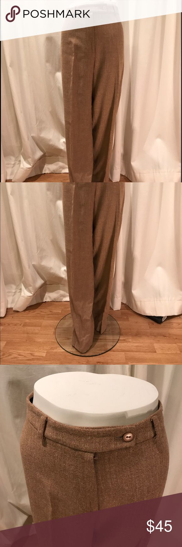 Incotex Wool Wide Leg Trouser Incotex Venezia 1951 Women's wide leg full length trouser. 92% Wool. 6% cashmere. 2% elastane. Designer size 46. Incotex Pants Trousers
