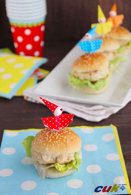 Recetas para niños: hamburguesa de pollo