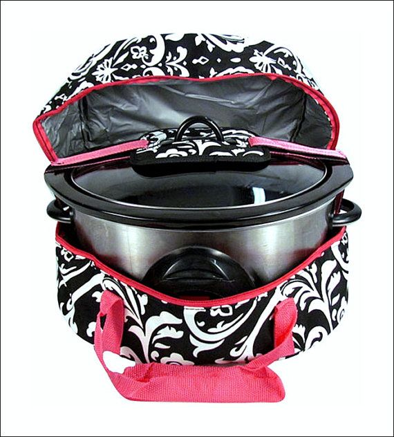 Personalized Insulated Slow Cooker/Crock Pot Carrier