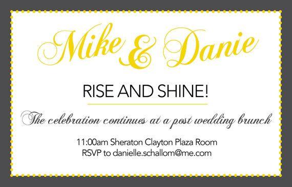 After Wedding Invitation Wording: Post-wedding Brunch Invitations