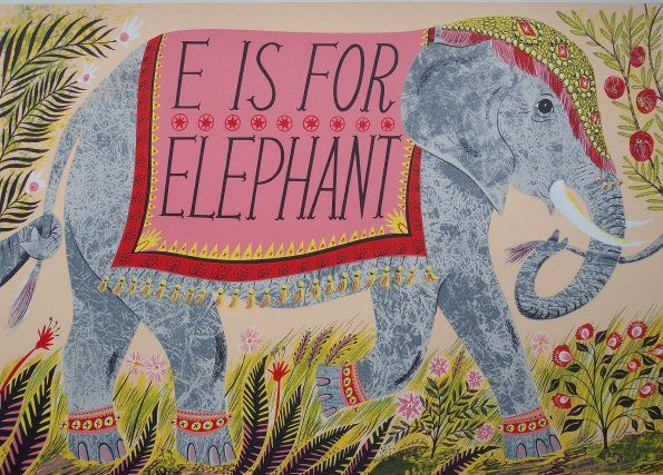 e is for elephant by emily sutton