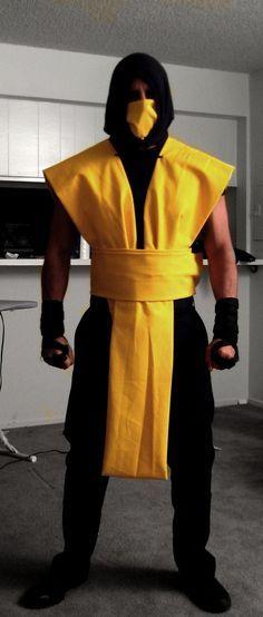 my 2009 halloween costume scorpion from mortal kombat made custome by myself - Mortal Kombat Smoke Halloween Costume