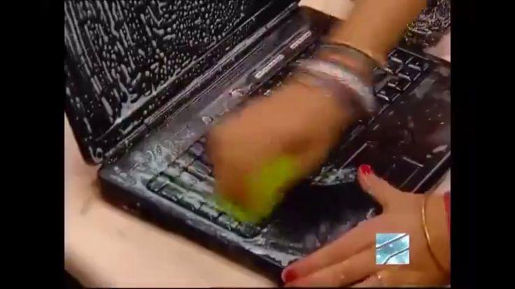 Деревенская девушка постирала ноутбук (Ржач до слез)