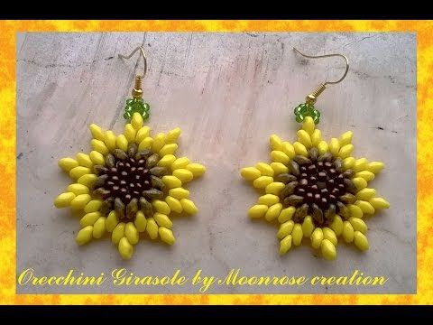 Orecchini Girasole (tutorial Sunflower Earrings) - YouTube