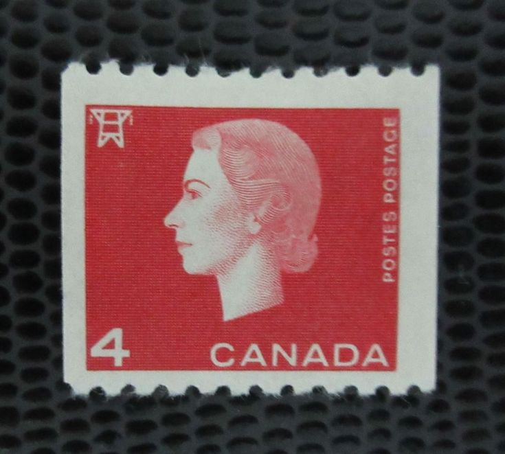 # 408 mint hinged coil stamp Queen Elizabeth Cameo Canada