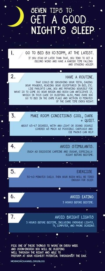 Tips for getting a good night sleep