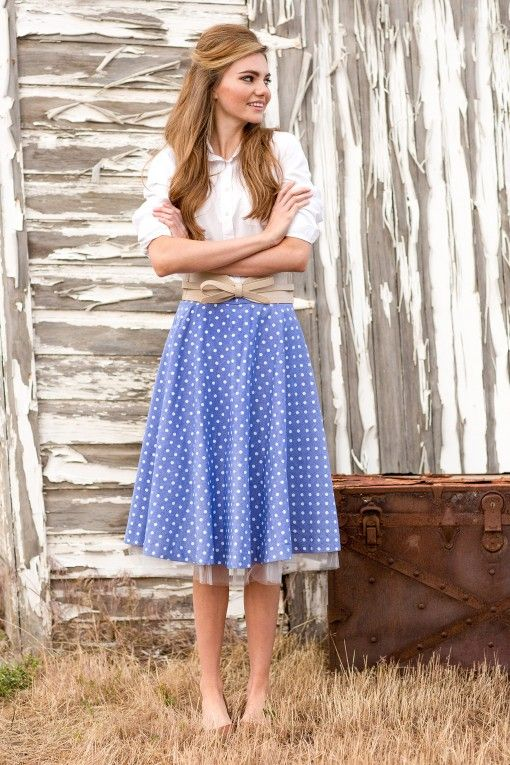 Dorothy Skirt $88 at Shabby Apple♥. Love the whole outfit. Modest and cute.