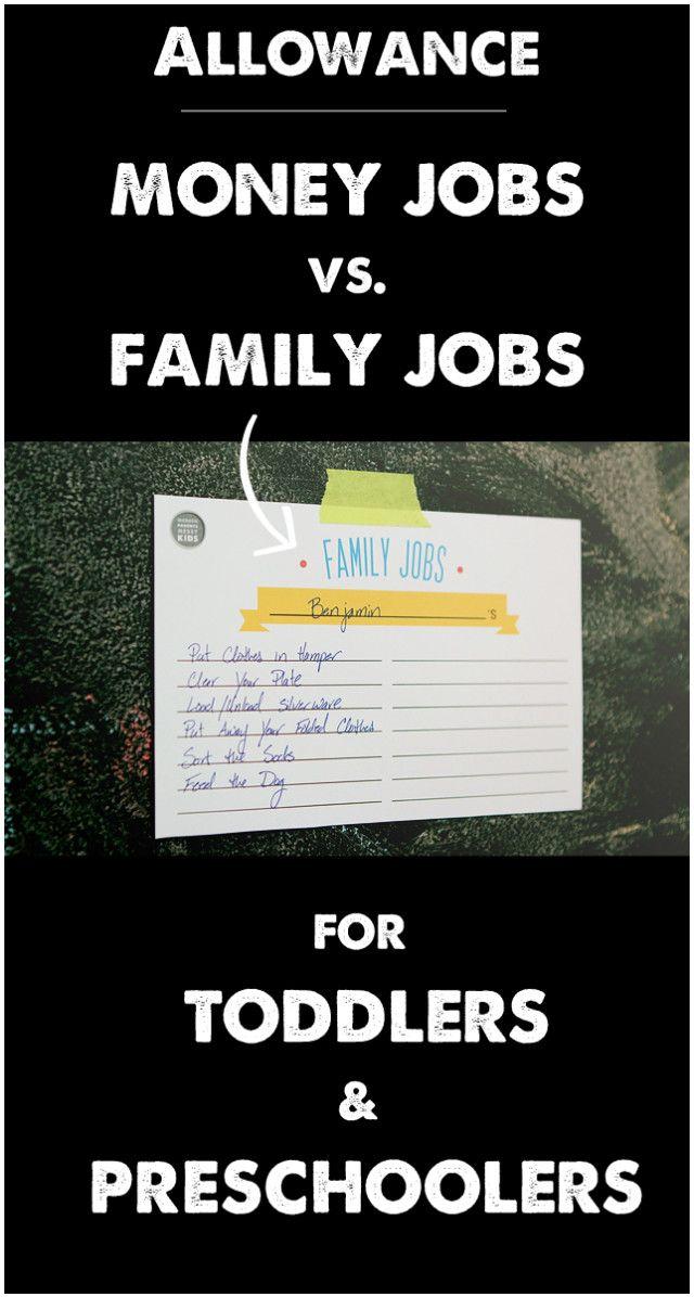 toddler chores, toddler family jobs, preschooler chores, preschooler family jobs
