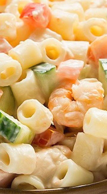 Cold shrimp pasta salad recipes easy