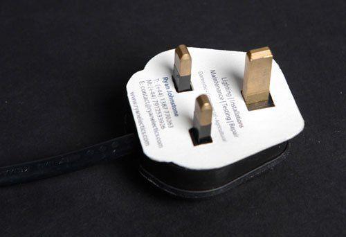 design de cartão de negócios criativo eletricista 2 etapas que ajudam a projetar memorável Cartões de visita