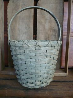 Baskets on Pinterest | Primitives, Egg Basket and Tobacco Basket