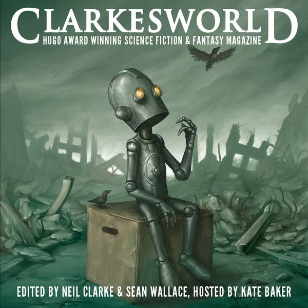 """The Clarkesworld Podcast: """"The Clarkesworld Podcast features all of our fiction in audio form. Each episode is hosted by Kate Baker and features an original story from our current issue."""""""