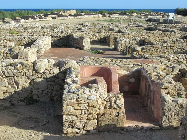 Founded by the Phoenicians in the 6th century BC, ancient Kerkouane contained residences complete with individual bath tubs. The city was destroyed by the Romans in the 3rd century BC and never rebuilt.