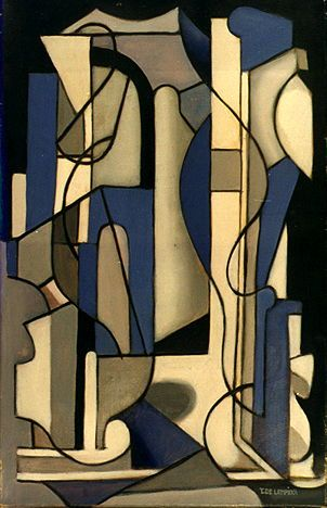Blue and Black Abstract Composition, Tamara de Lempicka, ca.1953