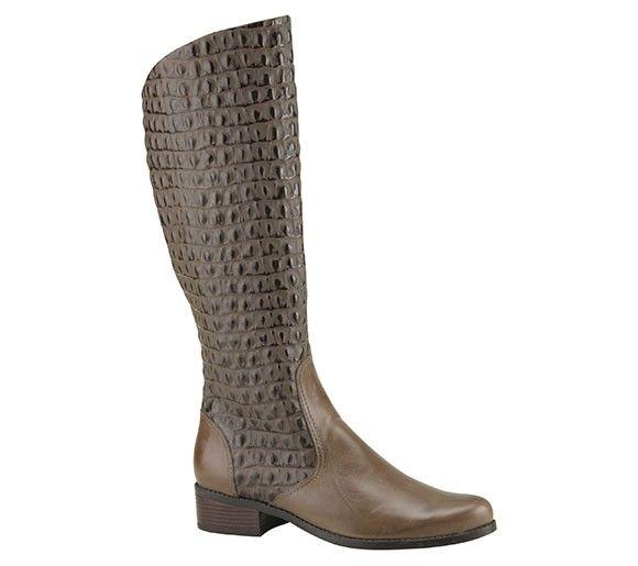 Bota de montaria com textura crocodilo | Botas | Bottero Calçados