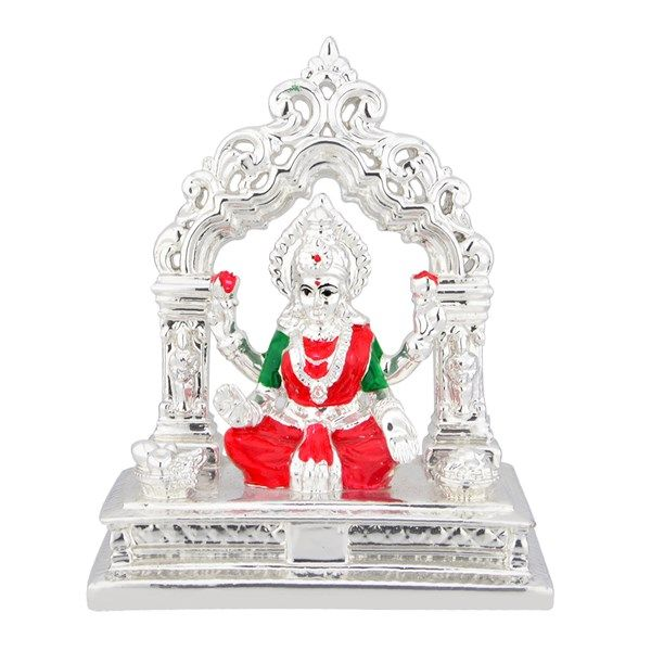 Jpearls Silver Plated Laxmi Idol | Silver Statues of God