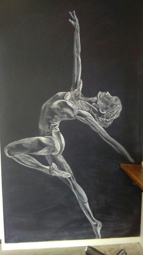 Chalk on wall