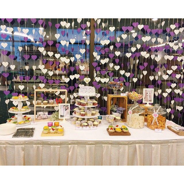 Wedding Dessert table on V day