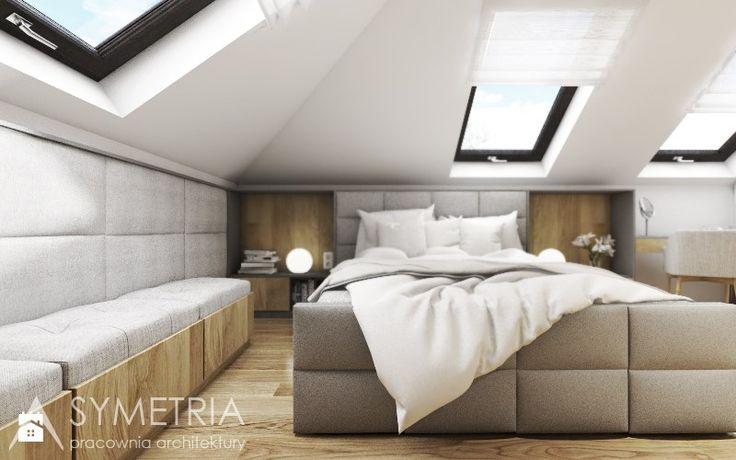 Sypialnia - zdjęcie od SYMETRIA | pracownia architektury - Sypialnia - SYMETRIA | pracownia architektury