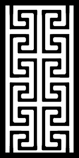 Greek key stencil
