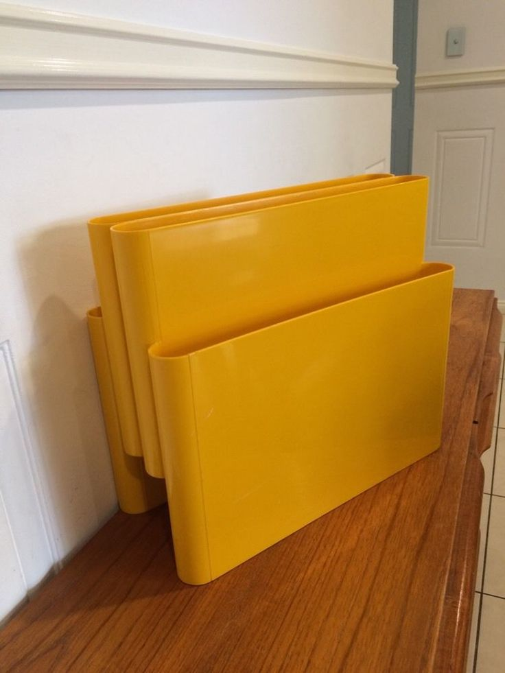 Vintage Retro Mid Century Kartell Era Yellow Plastic