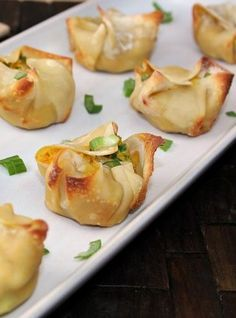 Healthy Crab Rangoon! You will love these they are under 42 calories per serving!   fit sugar