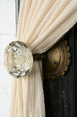 better than any curtain tieback you can buy off the shelf ... with so much more character too!
