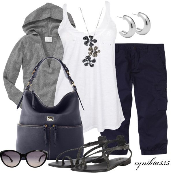 Casual Outfit: Black And Silver Outfit, Beaches Bonfires Outfit, Casual Outfit, Dreams Closet, Summer Outfit, Casual Black Dresses Outfit, Fashionista Trends, Black Shoes, Black White Gray Outfit