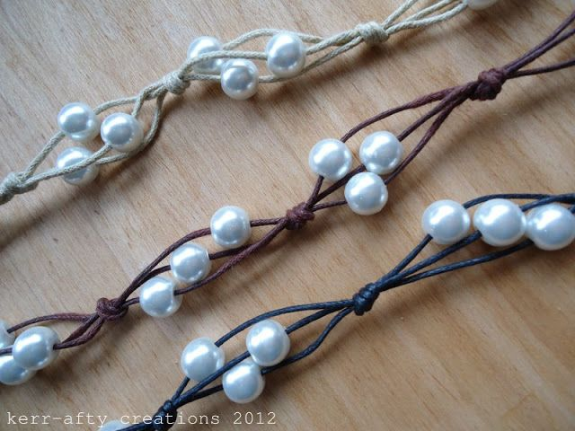 Easy Peasy Bracelet Tutorial / by Kerr-afty Creations - Leather and Pearls #jewelrymaking