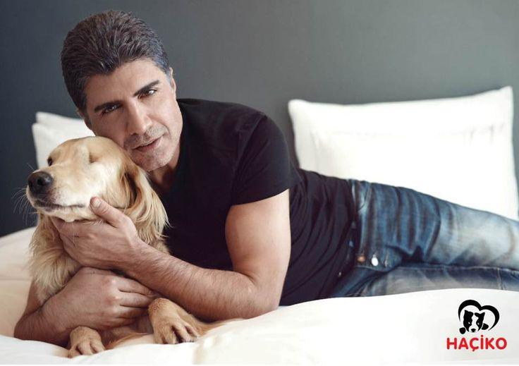 Özcan Deniz HAÇİKO için engelli köpekle poz verdi