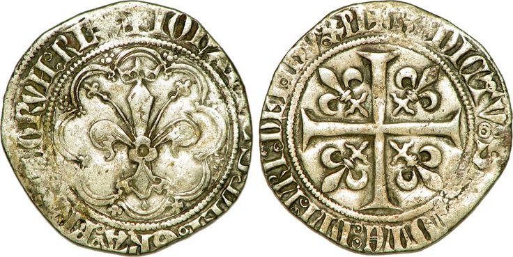 Gros à la fleur de lis dit patte d'oie sous Jean II le Bon - Jean II le Bon — Wikipédia