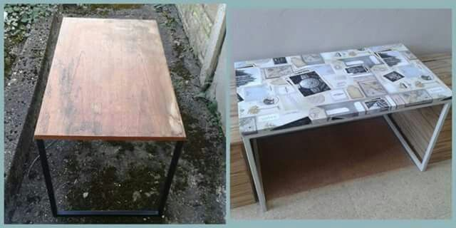 Conservatory coffee table from upcycled tv stand