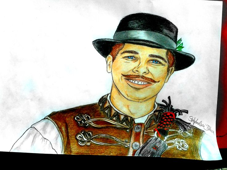#portrait #hungarian #drawing #illustration #smile #oldtime #betyár #man #tradition