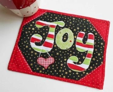 Christmas JOY Mug Rug                                                                                                                                                                                 More