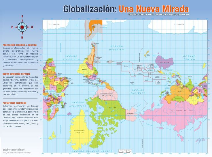 World map for Chile