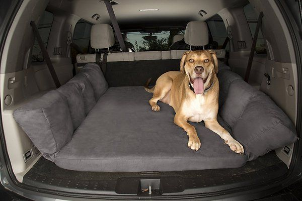 "Give your dog the support he needs on the road with the Big Barker Backseat Barker SUV Edition Orthopedic Dog Bed. While you love to bring your dog along for the ride, those bumps and stops can be jarring on his joints. So this crate pad was created with top-of-the-line, Certi-PUS US foam that is calibrated to contour and mold perfectly to your dog's body and relieve pressure points. The ""pillow wings"" provide extra support at the side in case of fast turns, with the added bonus of…"
