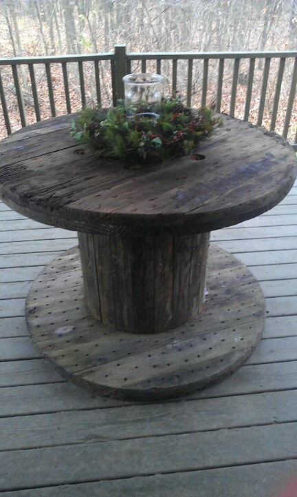 Cable Spool For Table Use Center Hole For Centerpiece I