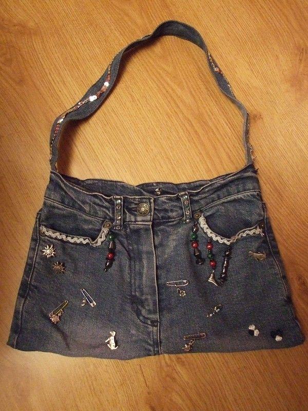 Sac main en jean sacs main pinterest couture album and crochet - Couture sac a main ...