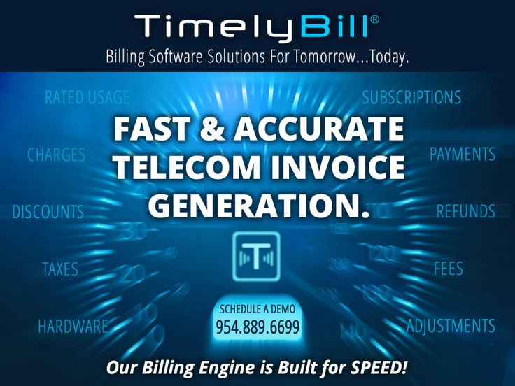 Fast and Accurate Telecom Invoice Generation.