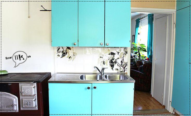 Handmade tiles for kitchen backsplash www.kerafiikka.com