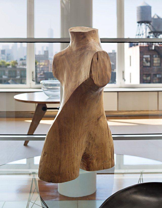 Torso sculpture by Alexandre Noll, 1950s | archdigest.com