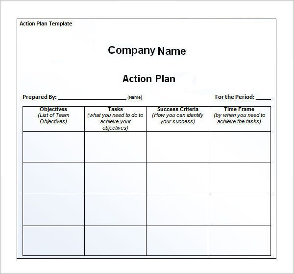 Awe Inspiring Action Plan Template For Your Business Vatansun