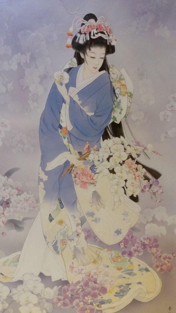 NOS Epoch Jigsaw Puzzle Haruyo Morita Kochouran Japanese Art Kimono 1000 Piece #Epochhttp://cgi.ebay.com/ws/eBayISAPI.dll?ViewItem&item=201160299714