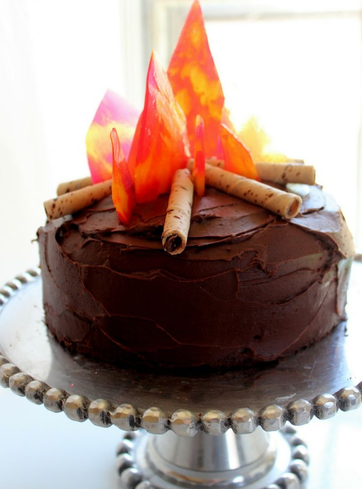 Bonfire Birthday Cake