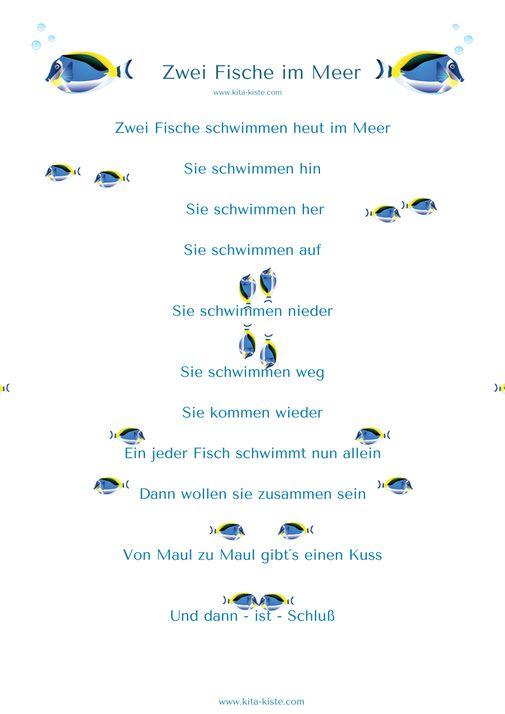 """Fingerspiel Fische """"Zwei Fische im Meer"""" Kita-Kiste"""