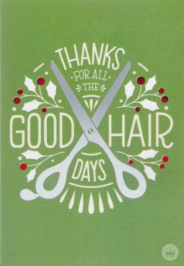hair stylist thank you hallmark christmas card