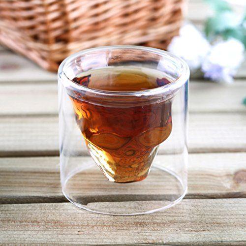 Skull Head Vodka Shot Whiskey Home Wine Beer Tea Glasdrinking Cup