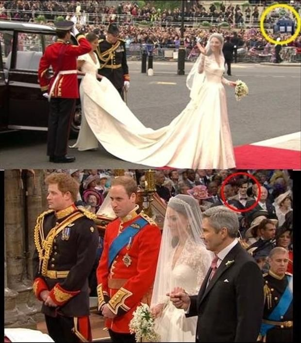 I'm not sure if this is real... but if it is... that is pretty awesome! The Doctor went to the royal wedding!!