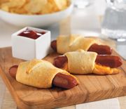 Hot dog pigs in a blanket
