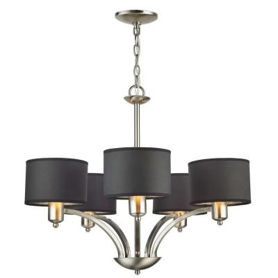 21 best black shade lighting images on pinterest chandelier 5 light brushed nickel chandelier with black shades mozeypictures